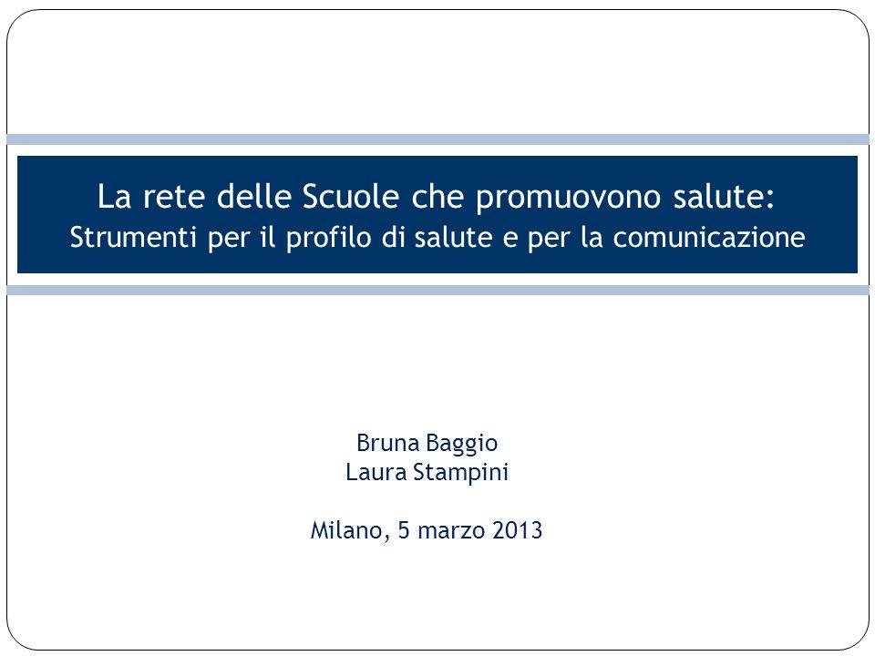 La rete delle Scuole che promuovono salute: Strumenti per il profilo di salute e per la comunicazione Bruna Baggio Laura Stampini Milano, 5 marzo 2013