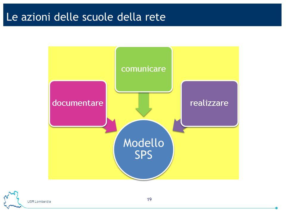 USR Lombardia 19 Le azioni delle scuole della rete Modello SPS documentarecomunicarerealizzare