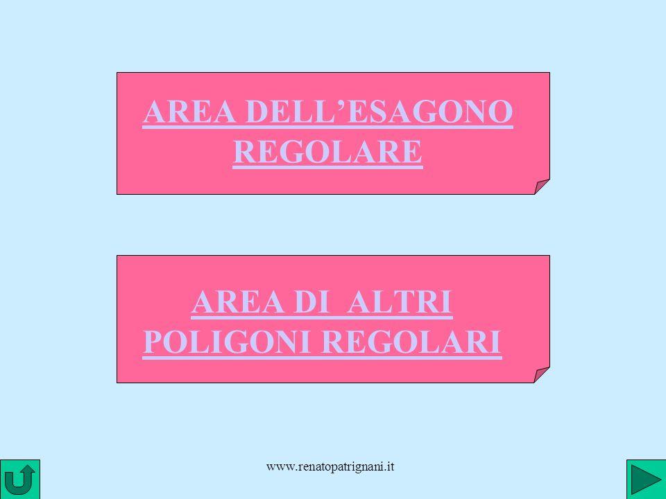www.renatopatrignani.it AREA DELLESAGONO REGOLARE AREA DI ALTRI POLIGONI REGOLARI