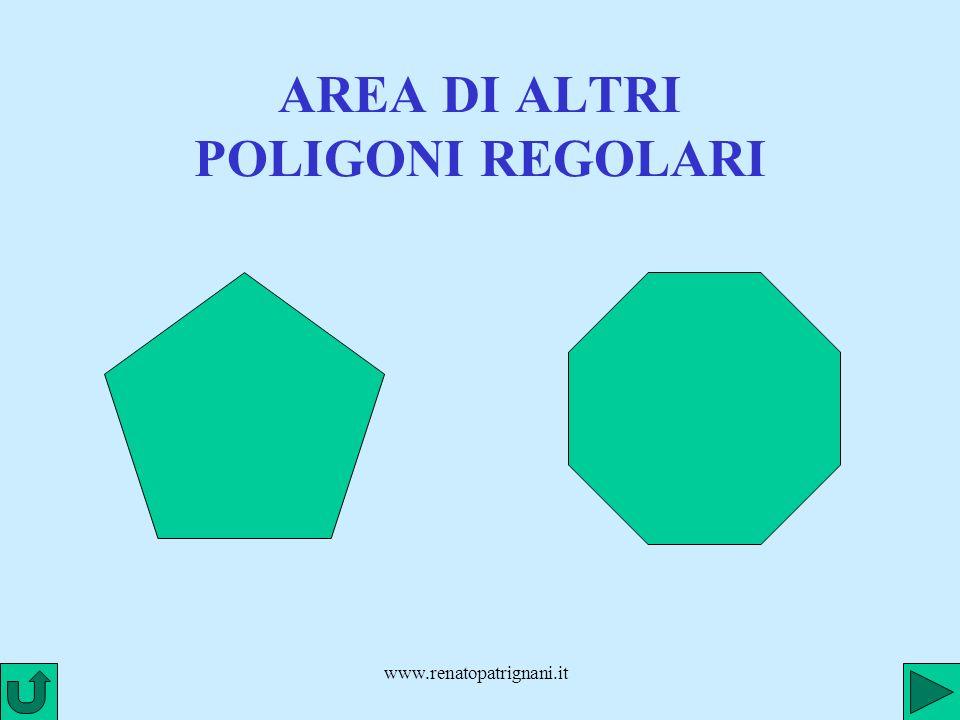 www.renatopatrignani.it AREA DI ALTRI POLIGONI REGOLARI