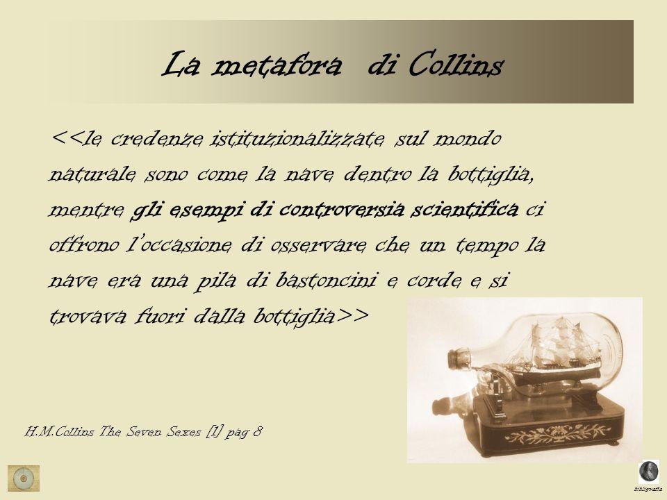 bibligrafia La metafora di Collins > H.M.Collins The Seven Sexes [1] pag 8