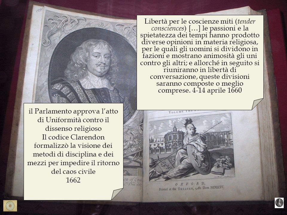 bibligrafia Libertà per le coscienze miti ( tender consciences ) […] le passioni e la spietatezza dei tempi hanno prodotto diverse opinioni in materia