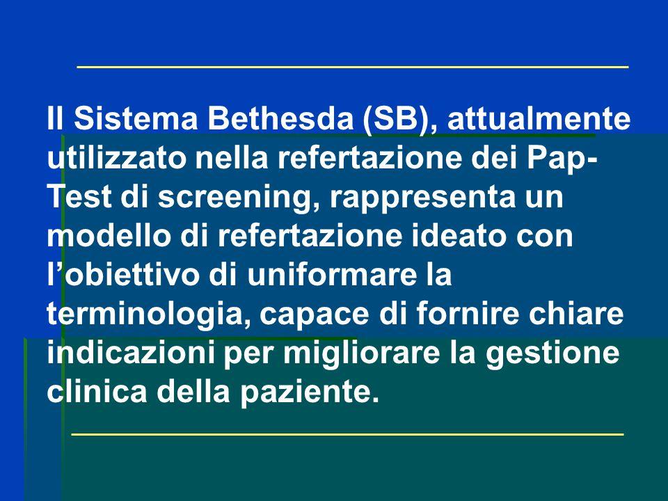 Il Sistema Bethesda (SB), attualmente utilizzato nella refertazione dei Pap- Test di screening, rappresenta un modello di refertazione ideato con lobi