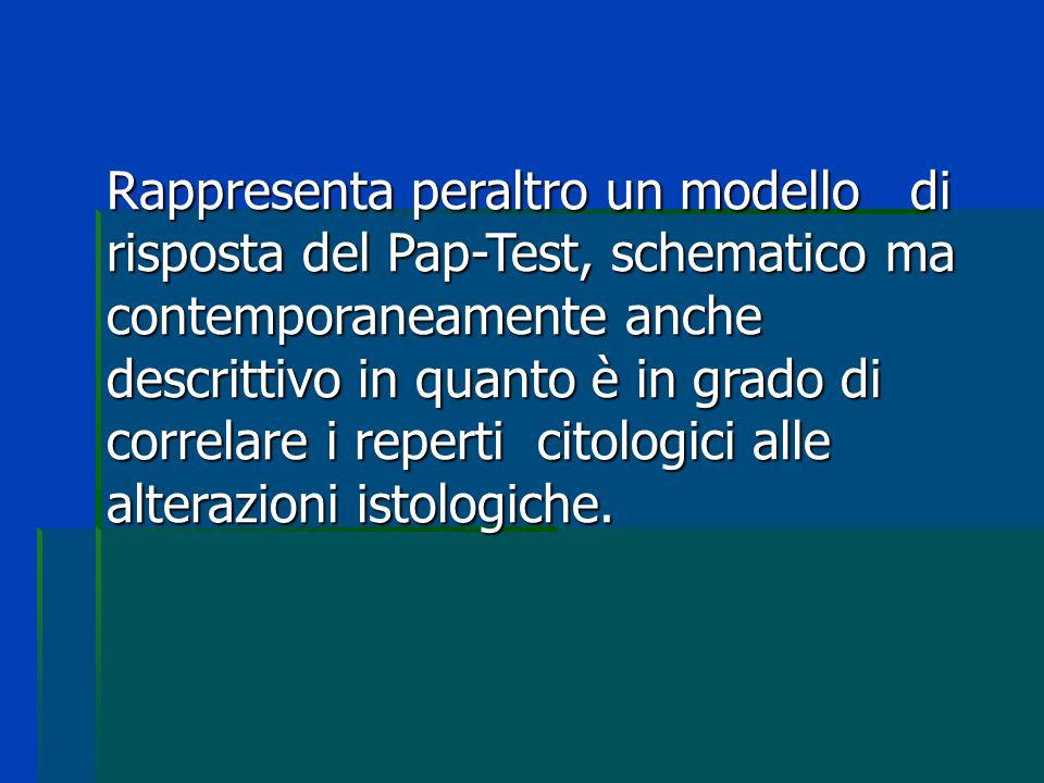 Rappresenta peraltro un modello di risposta del Pap-Test, schematico ma contemporaneamente anche descrittivo in quanto è in grado di correlare i reper