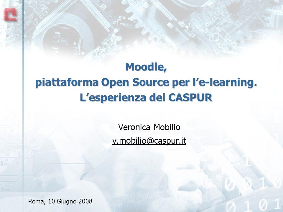 Moodle, piattaforma Open Source per le-learning.