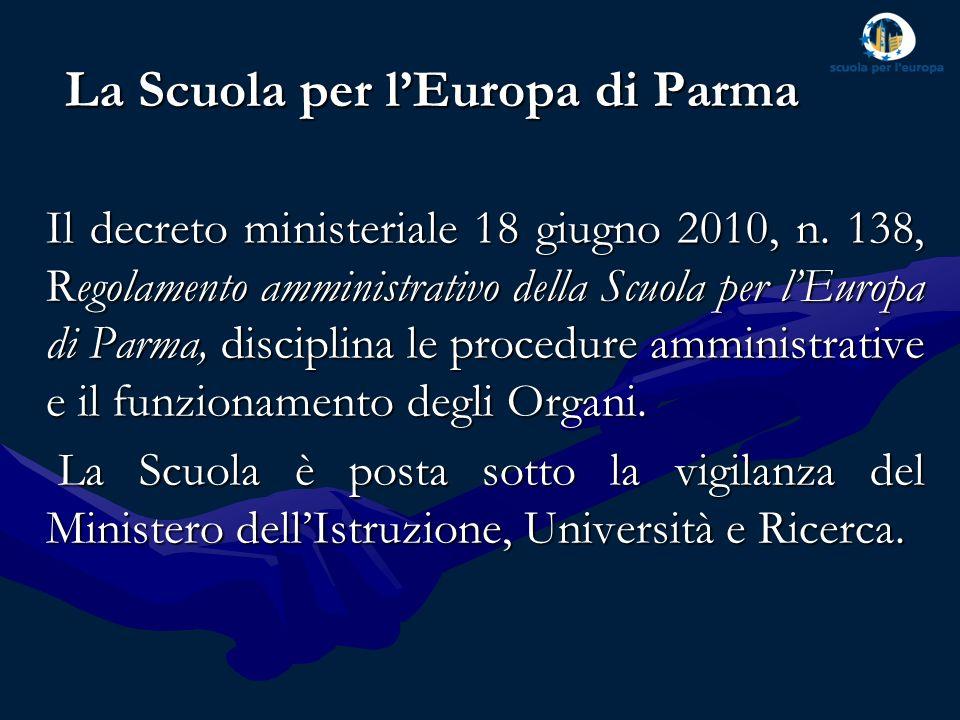 La Scuola è associata al sistema delle Scuole Europee attraverso la Convenzione di accreditamento (fino al 5° anno del ciclo secondario) e la Convenzione aggiuntiva (6° e 7° anno e BAC) che sono state rinnovate fino al 31 agosto 2015, a seguito dellultima ispezione del gennaio 2012.