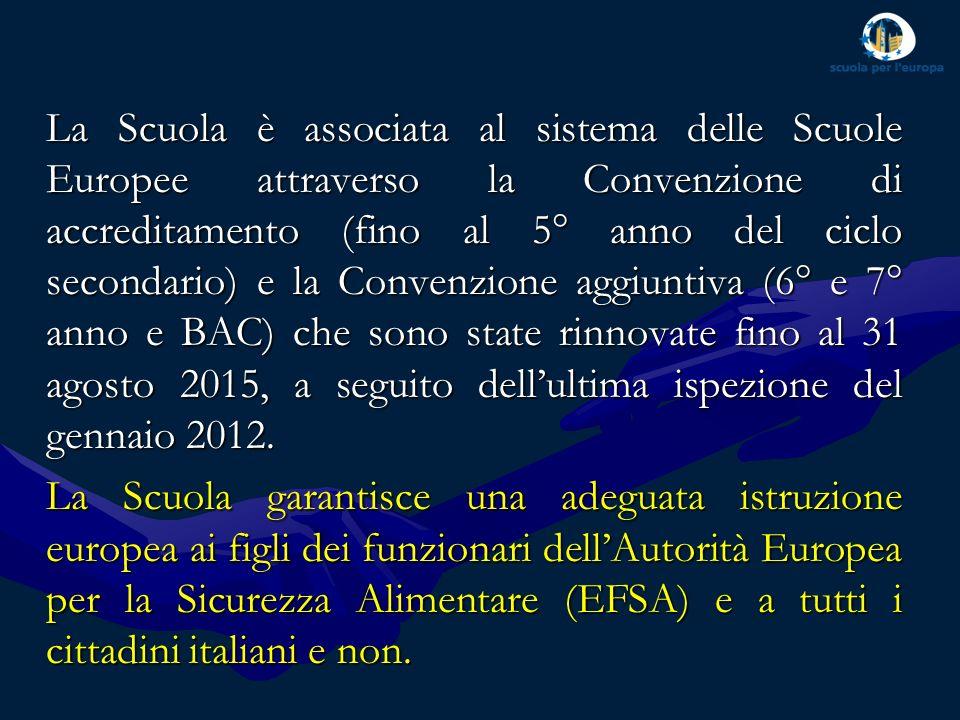 La Scuola è attualmente frequentata da 586 alunni suddivisi in tre sezioni linguistiche (anglofona, francofona e italiana).