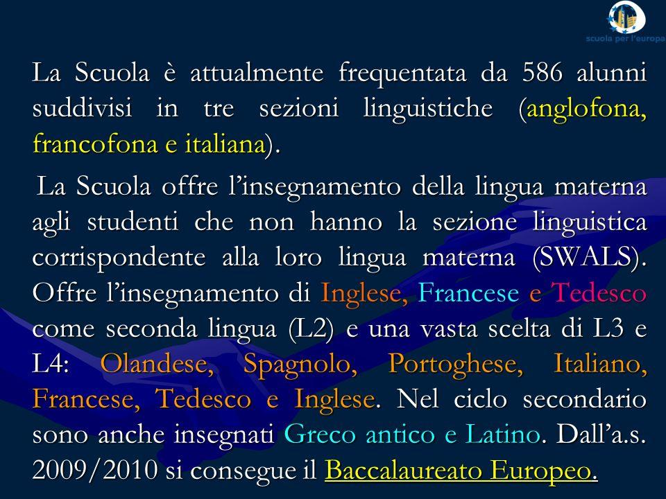 SEZIONE ANGLOFONASEZIONE ANGLOFONA SEZIONE FRANCOFONASEZIONE FRANCOFONA SEZIONE ITALIANASEZIONE ITALIANA Le sezioni linguistiche
