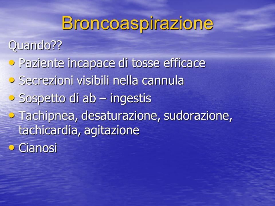 Broncoaspirazione Quando?.