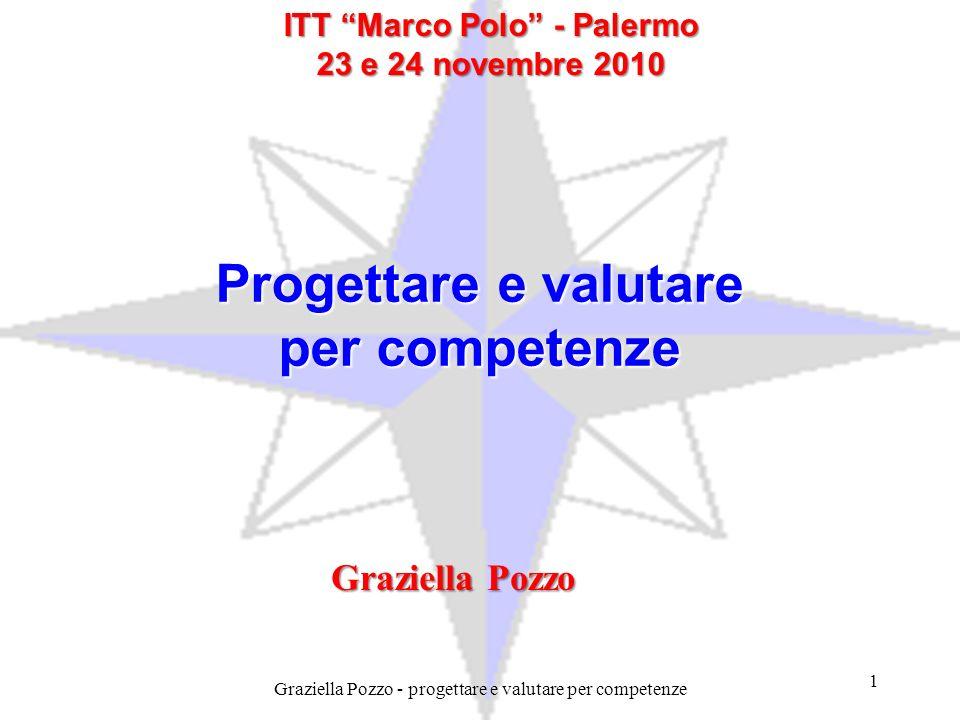 Progettare e valutare per competenze ITT Marco Polo - Palermo 23 e 24 novembre 2010 Graziella Pozzo 1 Graziella Pozzo - progettare e valutare per comp