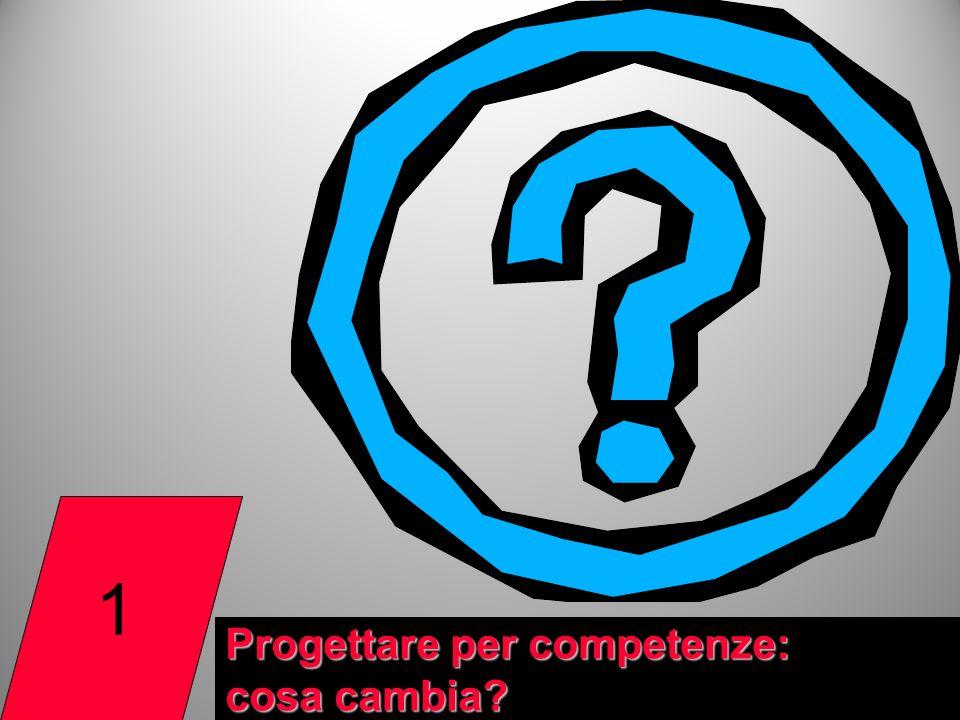 1 Progettare per competenze: cosa cambia? 2