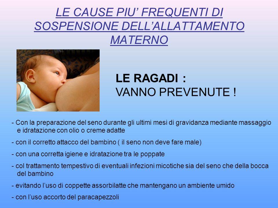- Con la preparazione del seno durante gli ultimi mesi di gravidanza mediante massaggio e idratazione con olio o creme adatte - con il corretto attacc