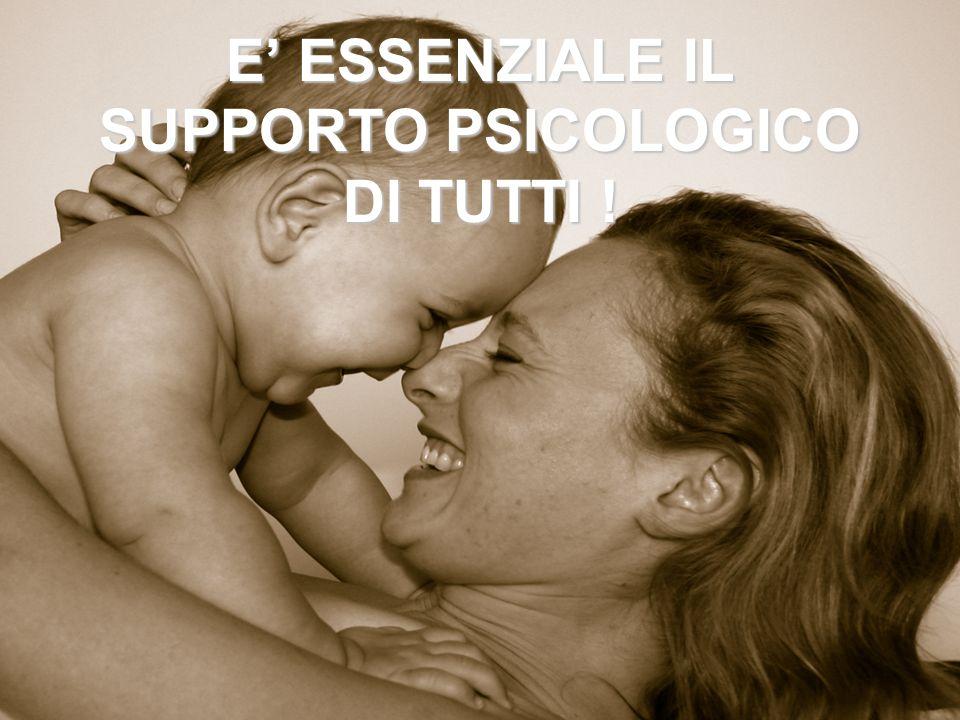 E ESSENZIALE IL SUPPORTO PSICOLOGICO DI TUTTI !