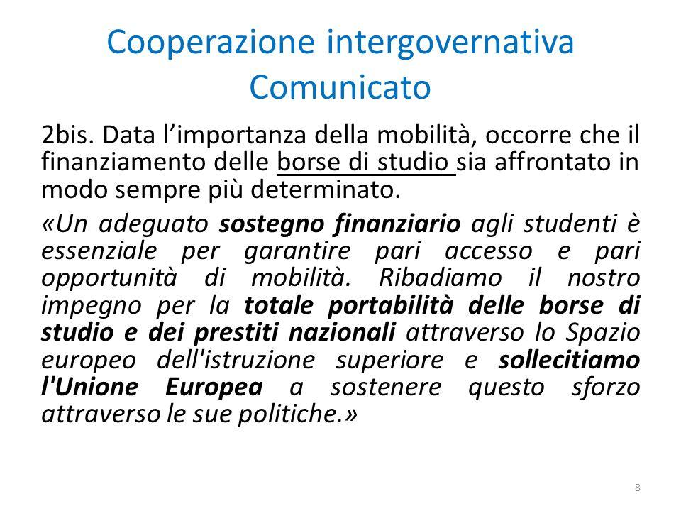 Cooperazione intergovernativa Comunicato 2bis.