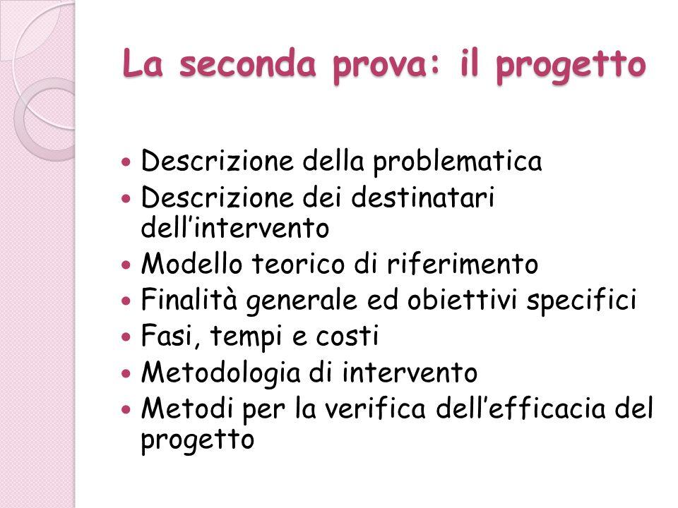 Obiettivi È importante che gli obiettivi siano legati alla metodologia utilizzata e agli strumenti di verifica scelti 1.