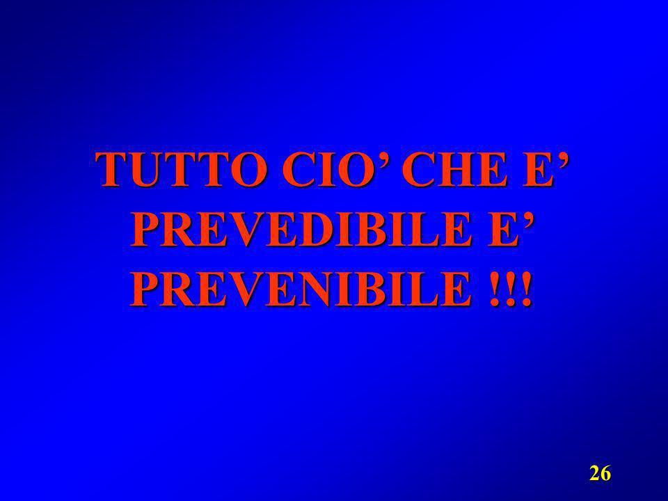 26 TUTTO CIO CHE E PREVEDIBILE E PREVENIBILE !!!