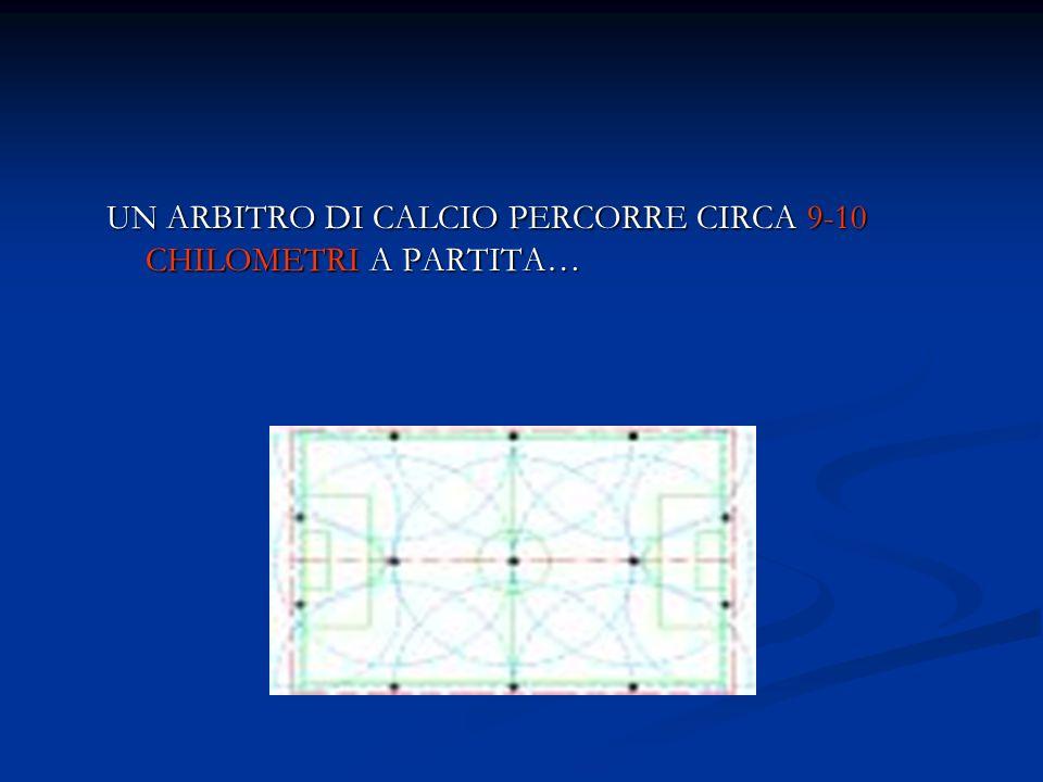 UN ARBITRO DI CALCIO PERCORRE CIRCA 9-10 CHILOMETRI A PARTITA…