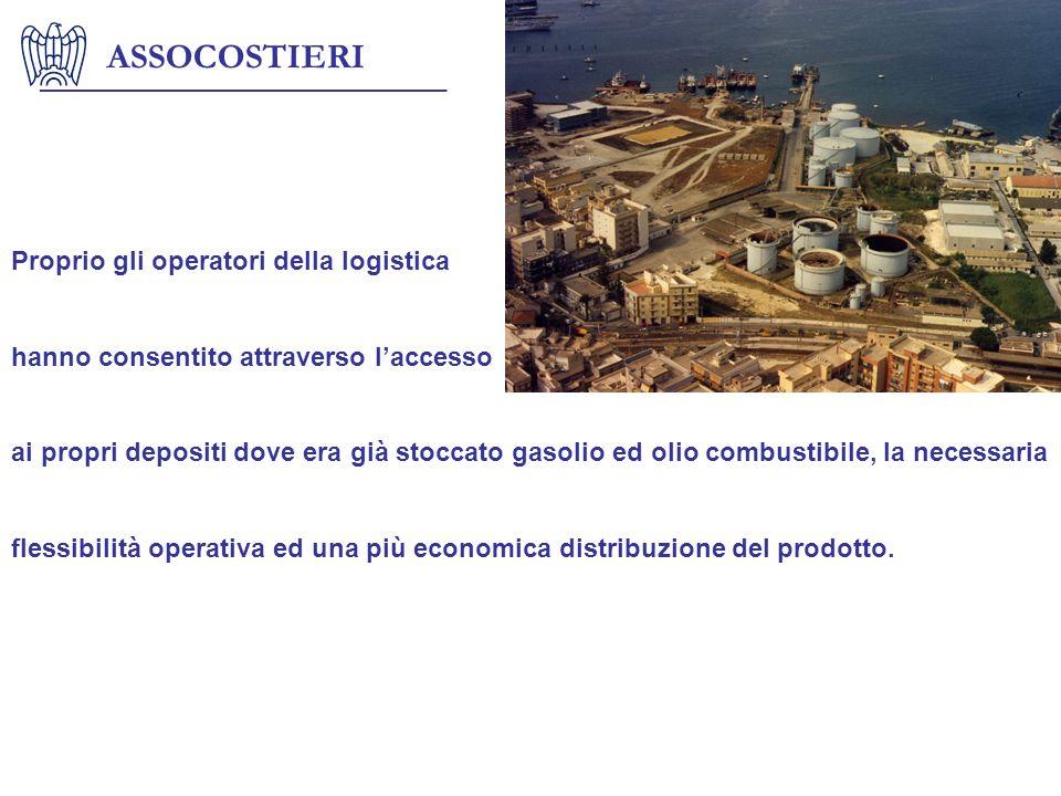 ASSOCOSTIERI Proprio gli operatori della logistica hanno consentito attraverso laccesso ai propri depositi dove era già stoccato gasolio ed olio combu
