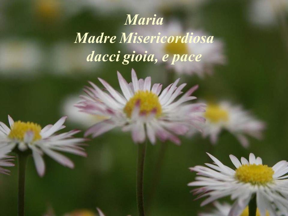 Maria Madre Misericordiosa dacci gioia, e pace