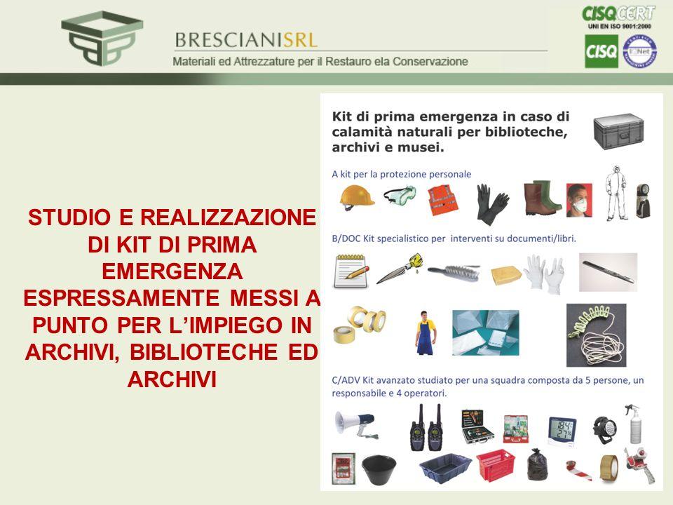 ESERCITAZIONE PER IL RECUPERO DEI BENI CULTURALI BRUCIATI E BAGNATI Bergamo, Biblioteca Civica e Archivi Storici A.