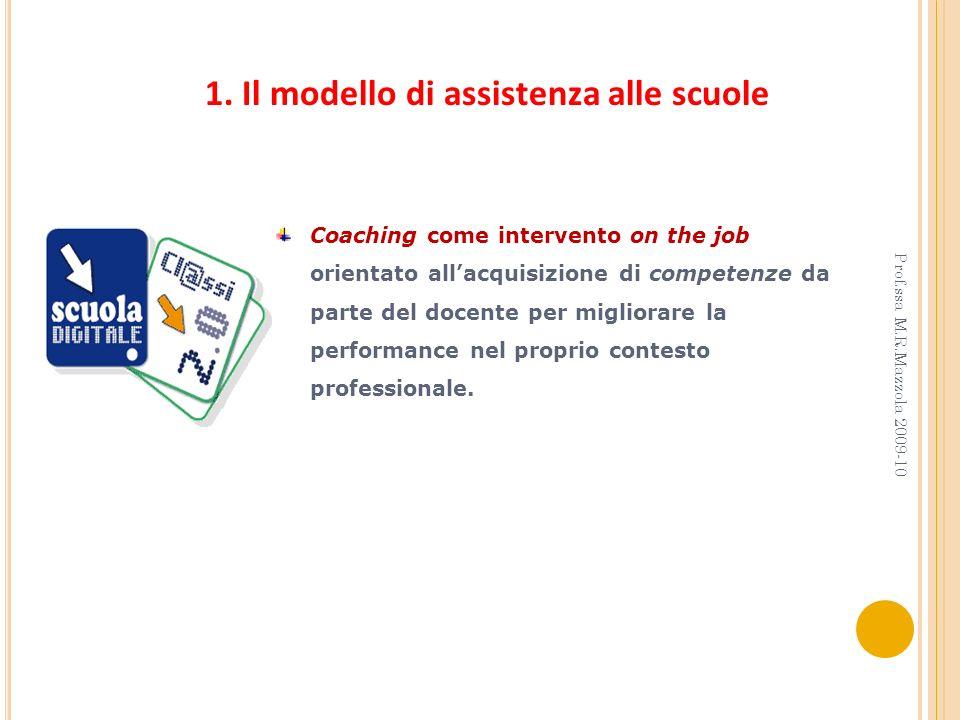 Coaching come intervento on the job orientato allacquisizione di competenze da parte del docente per migliorare la performance nel proprio contesto pr