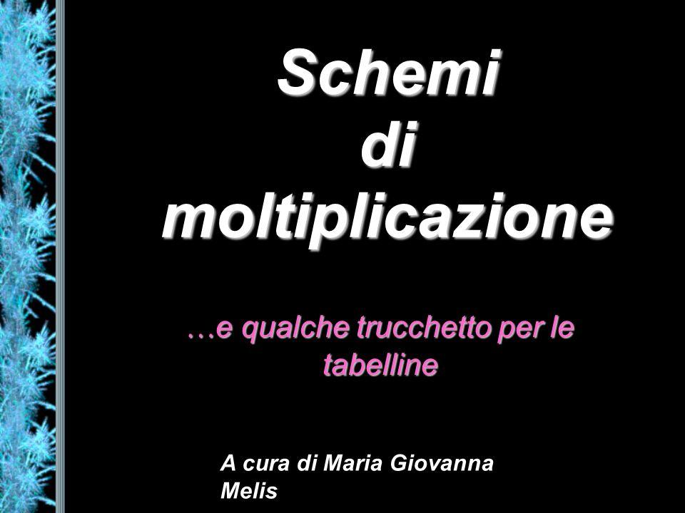 Schemi di moltiplicazione … e qualche trucchetto per le tabelline A cura di Maria Giovanna Melis