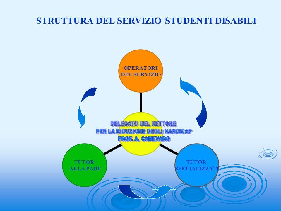 STRUTTURA DEL SERVIZIO STUDENTI DISABILI