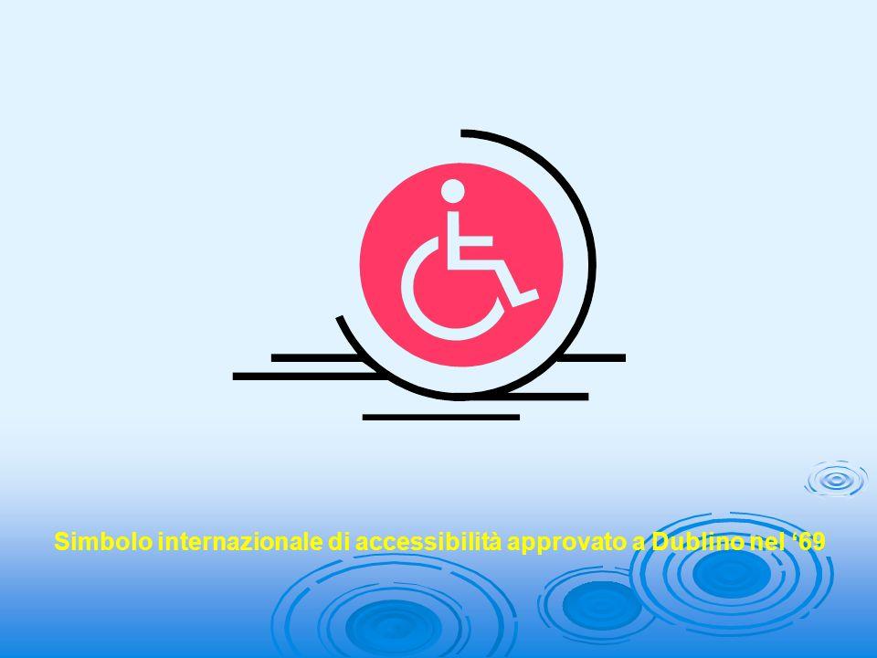 Simbolo internazionale di accessibilità approvato a Dublino nel 69