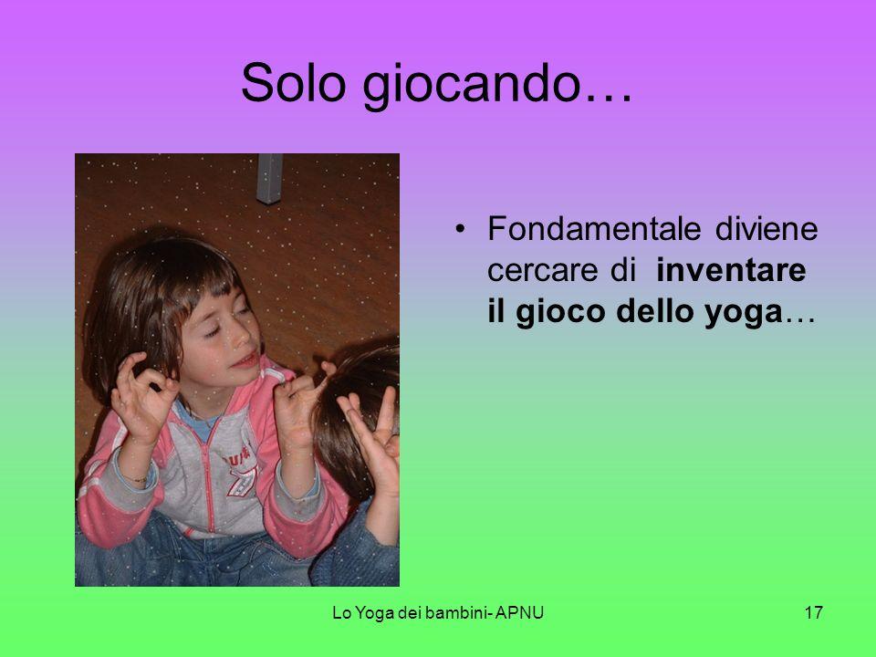 Lo Yoga dei bambini- APNU16
