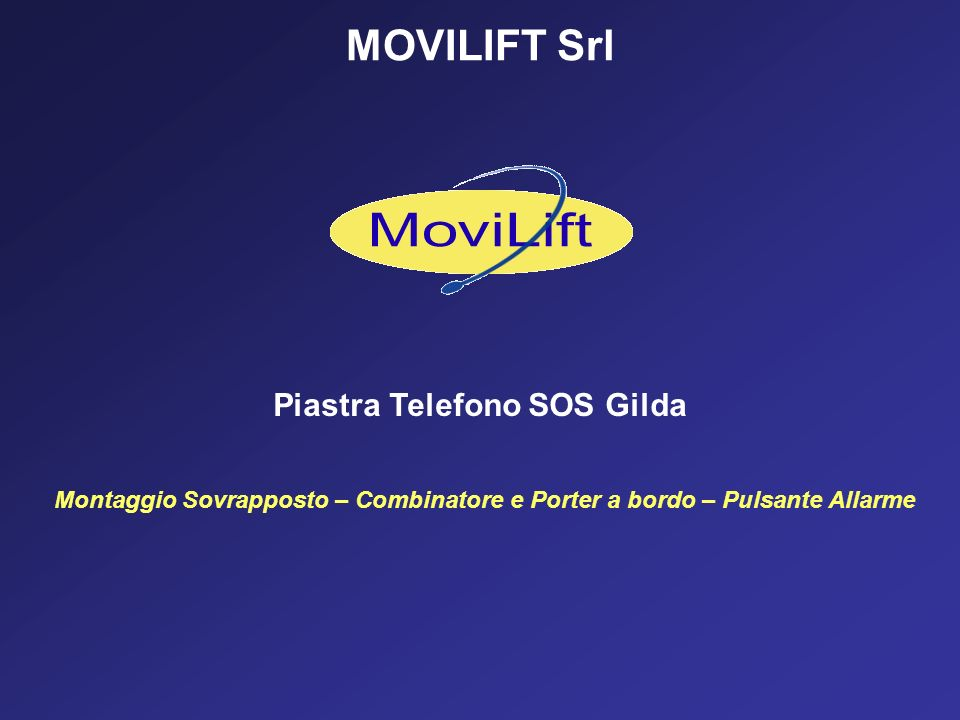 MOVILIFT Srl Piastra Telefono SOS Gilda Montaggio Sovrapposto – Combinatore e Porter a bordo – Pulsante Allarme
