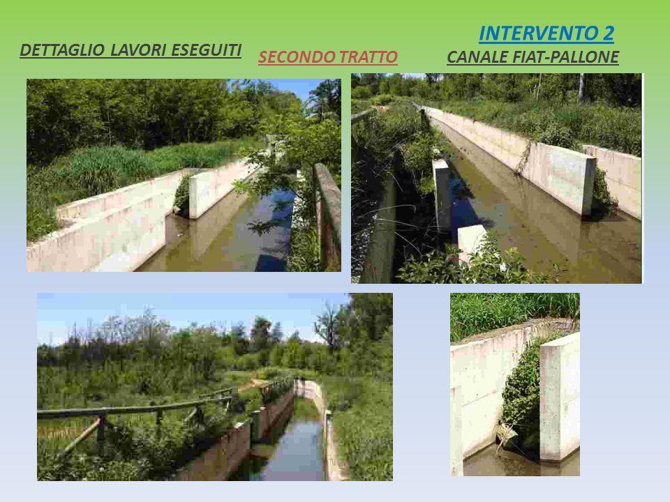 INTERVENTO 2 CANALE FIAT-PALLONE DETTAGLIO LAVORI ESEGUITI SECONDO TRATTO