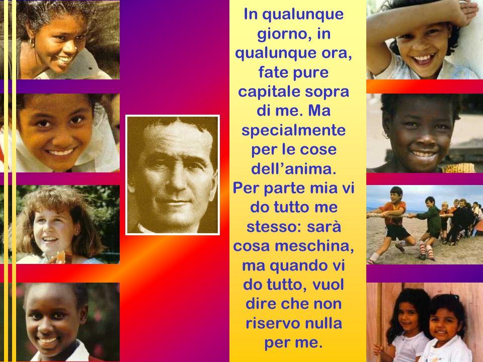 Per don Bosco i GIOVANI sono un dono di predilezione lEDUCAZIONE è la via di annuncio, di testimonianza, il SEGNO di CARITÀ CONCRETA che lo Spirito gl