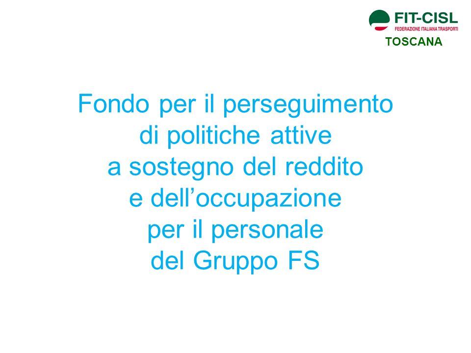Fondo per il perseguimento di politiche attive a sostegno del reddito e delloccupazione per il personale del Gruppo FS TOSCANA