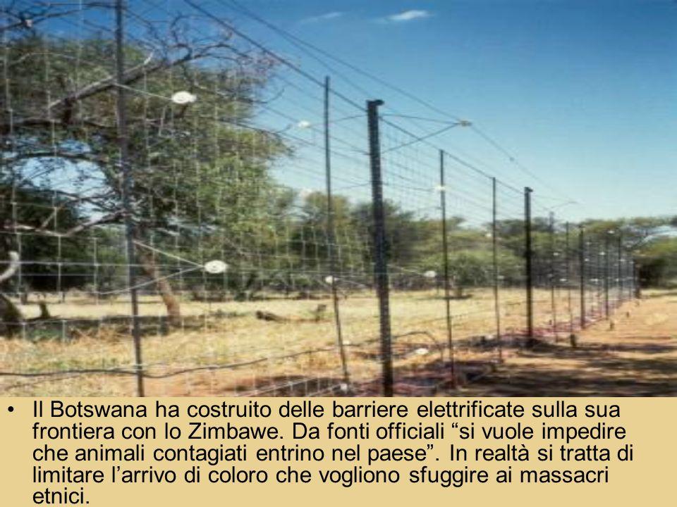 Il Botswana ha costruito delle barriere elettrificate sulla sua frontiera con lo Zimbawe. Da fonti officiali si vuole impedire che animali contagiati