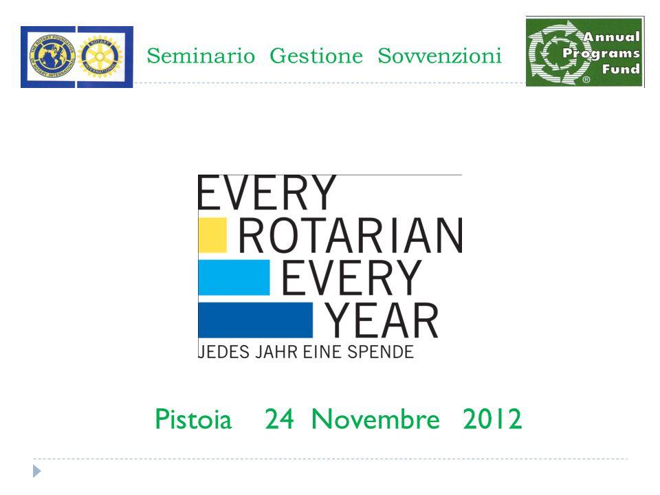 Seminario Gestione Sovvenzioni Pistoia 24 Novembre 2012