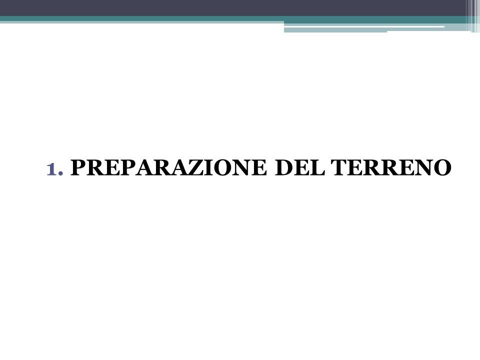 1. PREPARAZIONE DEL TERRENO