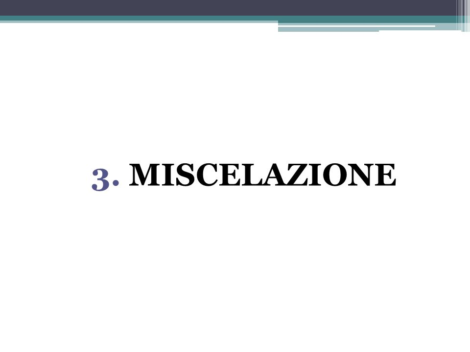 3. MISCELAZIONE