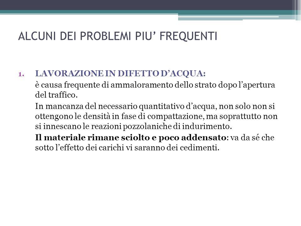 ALCUNI DEI PROBLEMI PIU FREQUENTI 1.
