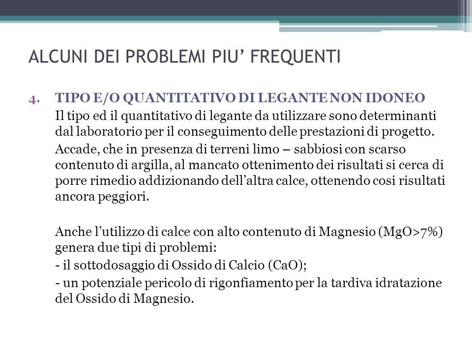 ALCUNI DEI PROBLEMI PIU FREQUENTI 4.
