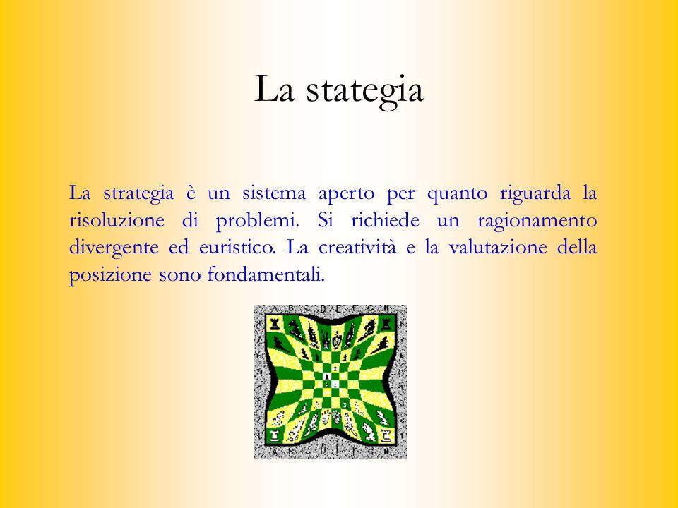 La strategia è un sistema aperto per quanto riguarda la risoluzione di problemi.