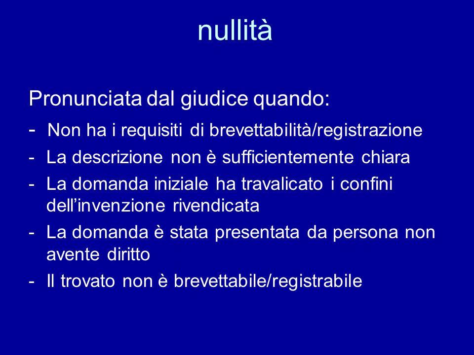 INVENZIONI Protezione Nazionale Europea Internazionale Primo deposito in Italia o dietro nulla osta Ministero