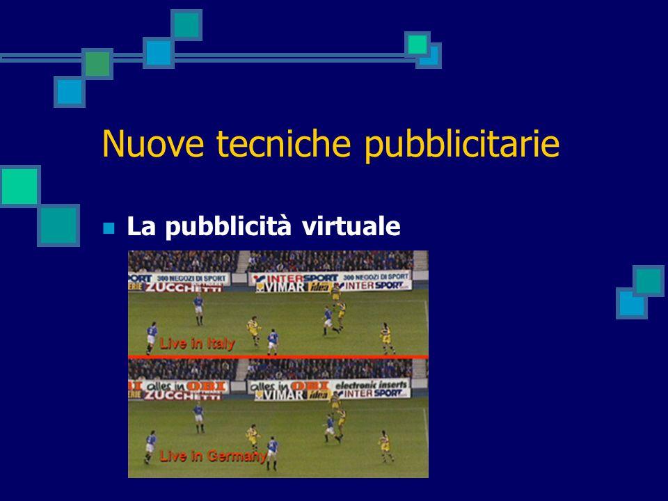 Nuove tecniche pubblicitarie La pubblicità virtuale