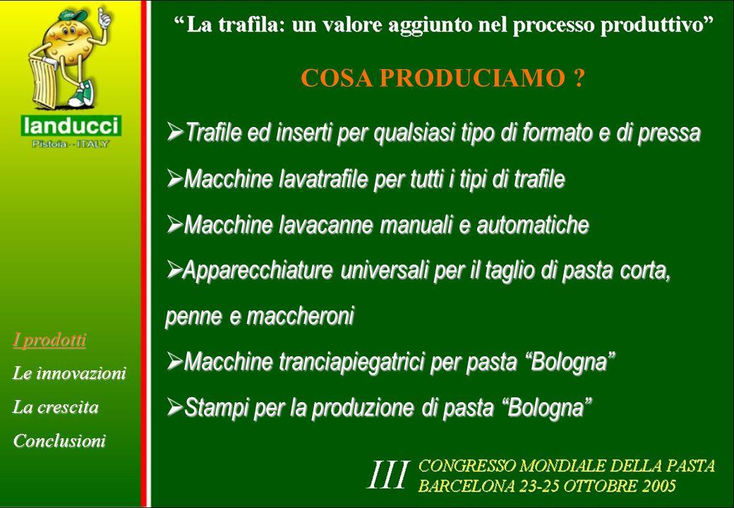 2002: gestione trafile mediante radiofrequenza I prodotti Le innovazioni La crescita Conclusioni