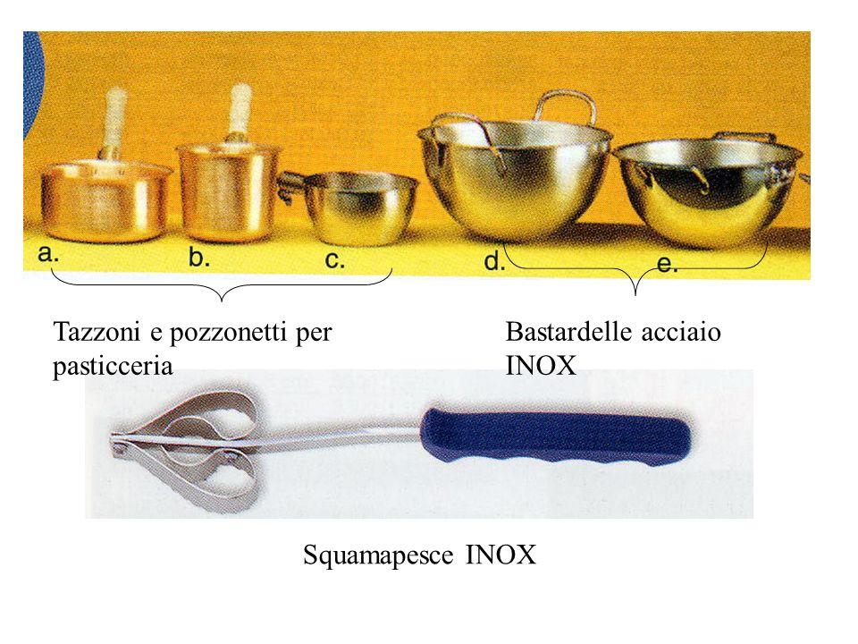 Tazzoni e pozzonetti per pasticceria Bastardelle acciaio INOX Squamapesce INOX