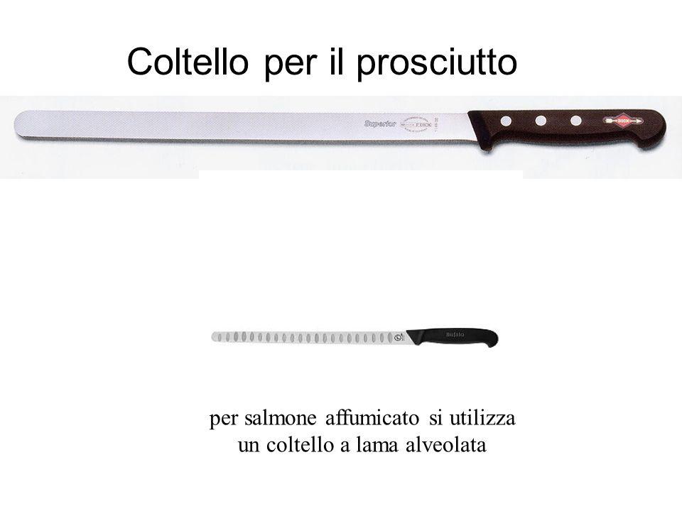 Coltello per il prosciutto per salmone affumicato si utilizza un coltello a lama alveolata