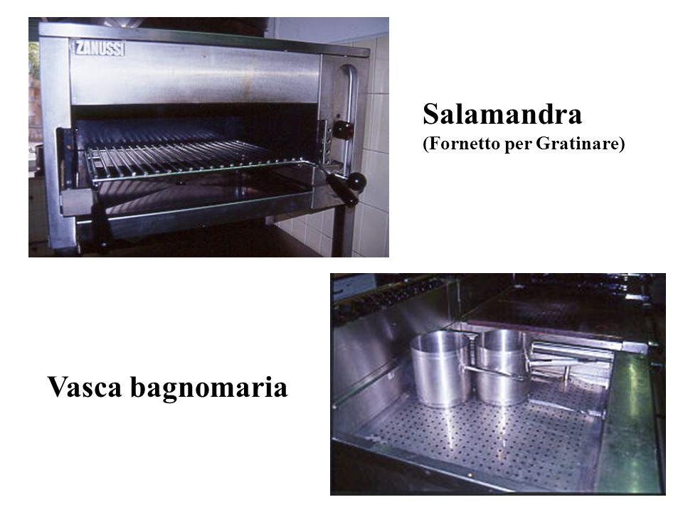 Salamandra (Fornetto per Gratinare) Vasca bagnomaria