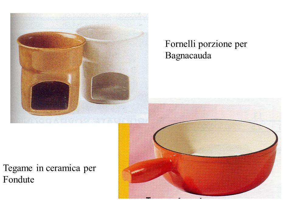 Fornelli porzione per Bagnacauda Tegame in ceramica per Fondute