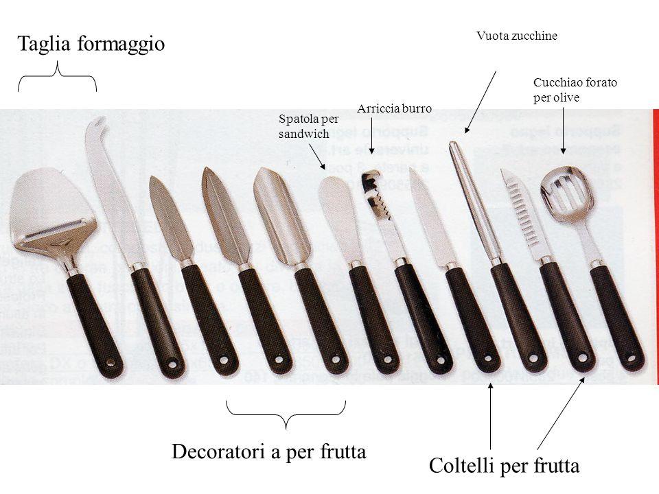 Taglia formaggio Decoratori a per frutta Spatola per sandwich Arriccia burro Coltelli per frutta Vuota zucchine Cucchiao forato per olive