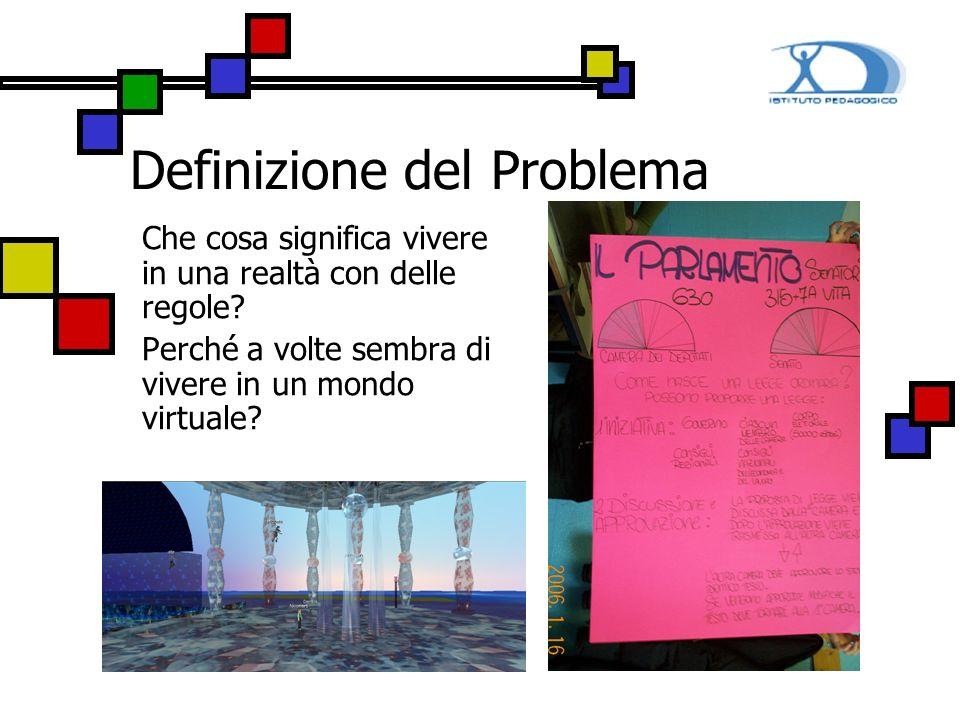 Definizione del Problema Che cosa significa vivere in una realtà con delle regole? Perché a volte sembra di vivere in un mondo virtuale?