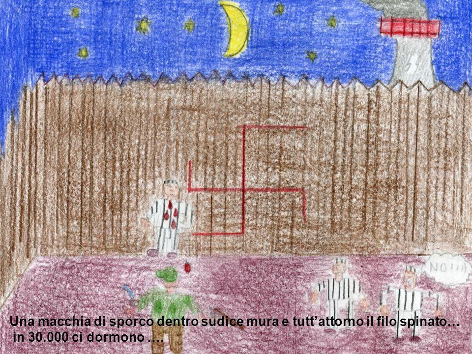 Una macchia di sporco dentro sudice mura e tuttattorno il filo spinato… in 30.000 ci dormono ….